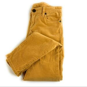 KFTK Mia Toothpick Skinny Jeans Mustard Corduroy